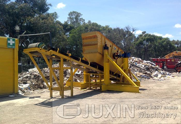 Australia 50t/h Construction waste crushing plant