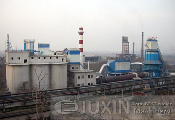 1200tpd active lime production plant with rotary kiln